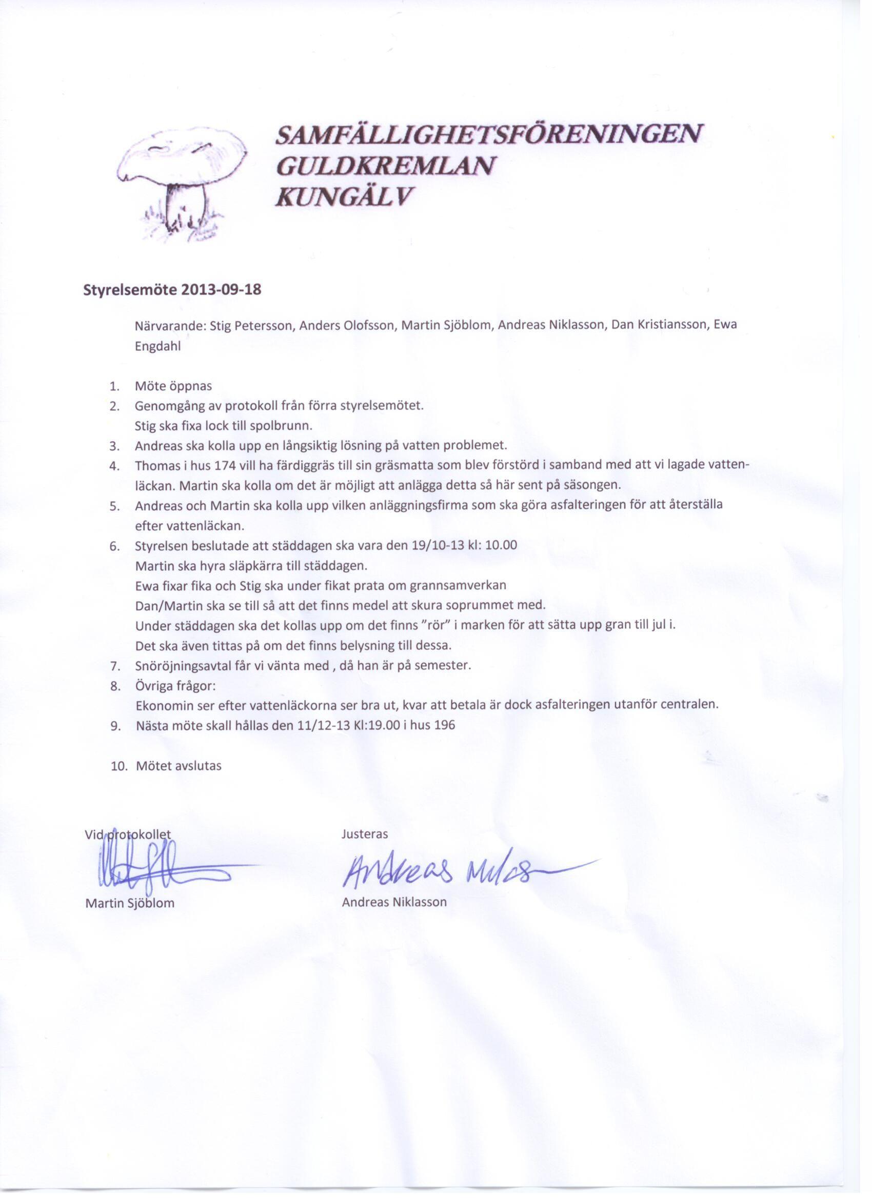 Styrelsemöte hos Anders O.